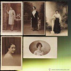 Fotografía antigua: LOTE DE 5 TARJETAS POSTALES FOTOGRAFIAS DE MUJERES. Lote 44399190