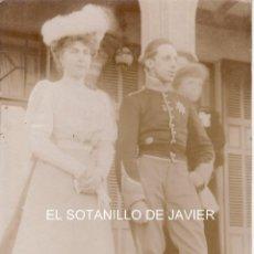 Fotografía antigua: POSTAL DEL REY ALFONSO XIII Y DOÑA VICTORIA EUGENIA. Lote 45001391
