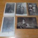 Fotografía antigua: LOTE DE 5 FOTOGRAFIA DE FINALES S.XIX O PRINCIPIOS S.XX, EN CARTON DURO. Lote 45204011