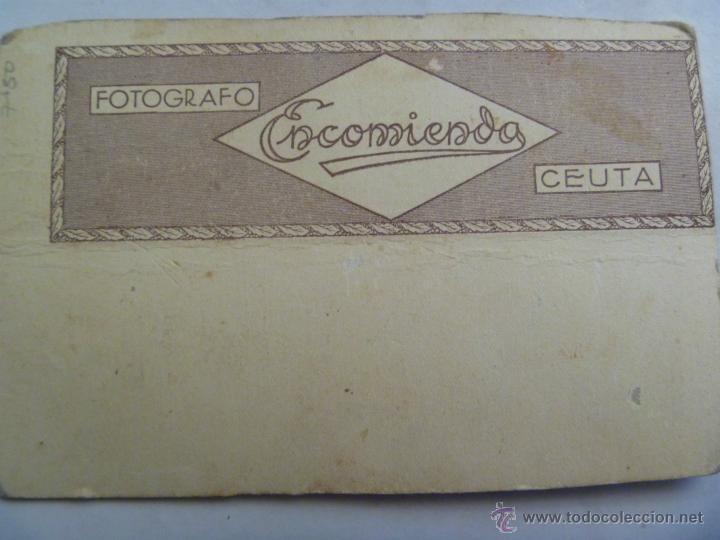 Fotografía antigua: REPUBLICA : SOLDADO DE ARTILLERIA DE COSTAS CON SAM BRAWM Y LEGGINS. FOTO: ENCOMIENDA, CEUTA - Foto 2 - 45671678