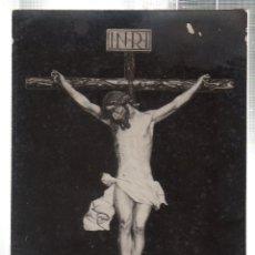Fotografía antigua: TARJETA POSTAL FOTOGRAFICA DE UN CRISTO DE LA SEMANA SANTA DE JEREZ.. Lote 45718529