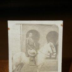 Fotografía antigua: PRECIOSA FOTOPOSTAL DEL PICADOR MANUEL CODES MELONES - FIRMADA Y DEDICADA DE PUÑO Y LETRA. Lote 45885814