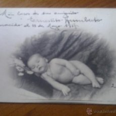 Fotografía antigua: ANTIGUA TARJETA POSTAL FOTOGRAFICA VERA ALMERIA DIRIGIDA A CARTAGENA MURCIA 1917. Lote 45994168
