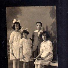Fotografía antigua: FOTOGRAFÍA ANTIGUA. HERMANOS. Lote 46366983