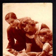 Fotografía antigua: ANTIGUA POSTAL FOTOGRÁFICA FAMILIAR. CIRCULADA. Lote 46737234