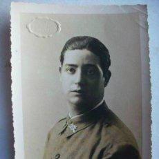 Fotografía antigua: MILITAR DE LA REPUBLICA : SOLDADO DE INFANTERIA . FOTO: STUDIO, ALCOY . 1935 .... Lote 47016586