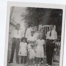 Fotografía antigua: TARJETA POSTAL ANTIGUA - GRUPO FAMILIAR. Lote 47102216