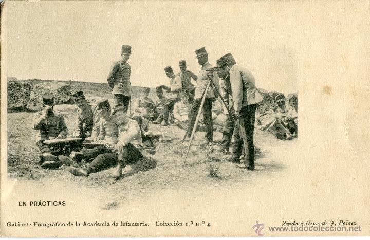 IMPRENTA VIUDA E HIJOS DE J. PELAEZ, TOLEDO. GABINETE FOTOGRAFICO ACADEMIA DE INFANTERIA (Fotografía Antigua - Tarjeta Postal)