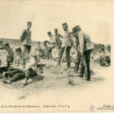 Fotografía antigua: IMPRENTA VIUDA E HIJOS DE J. PELAEZ, TOLEDO. GABINETE FOTOGRAFICO ACADEMIA DE INFANTERIA. Lote 47313587