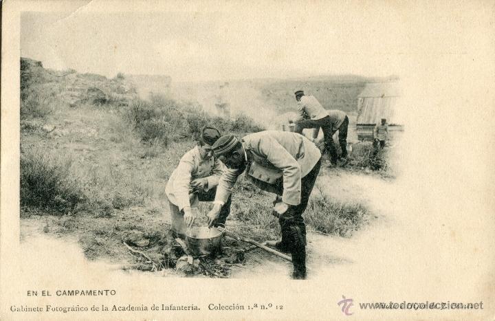 Fotografía antigua: Imprenta Viuda e Hijos de J. Pelaez, Toledo. Gabinete fotografico academia de Infanteria - Foto 2 - 47313587