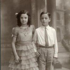 Fotografía antigua: FOTOGRAFIA DE BARÓ 1934. HERMANOS SALVADOR SERRA. Lote 47317391