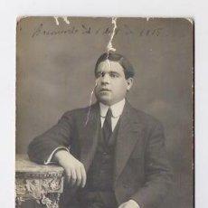 Fotografía antigua: RETRATO DE 1915 FOTOGRAFO ESPLUGAS BARCELONA. Lote 47362125