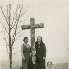 Fotografía antigua: EN LA CRUZ DE SEQUEROS, 1933. Lote 47560413