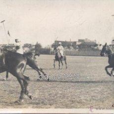 Fotografía antigua: MADRID, 1910, PARTIDO DE POLO, CLUB PUERTA DE HIERRO. Lote 47569907