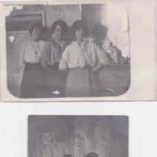Fotografía antigua: F- 145. LOTE 2 FOTOGRAFIAS POSTAL 1914, CASA MODERNISTA.. Lote 47845946