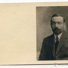 Fotografía antigua: CABALLERO SIN IDENTIFICAR, POSTAL FOTOGRÁFICA. Lote 47975588