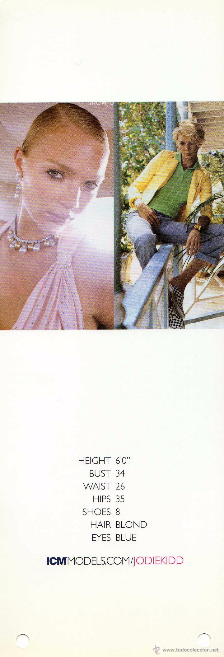 Fotografía antigua: TOP MODEL: 2004 Show Package COMPOSIT TARJETA POSTAL de JODIE KIDD 29,5 X 10,5 cm. - Foto 2 - 48365809