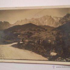 ANTIGUA FOTO POSTAL.PICOS DE EUROPA.TURIENO,CANTABRIA,FOTO EUSEBIO BUSTAMANTE.1911-1982.