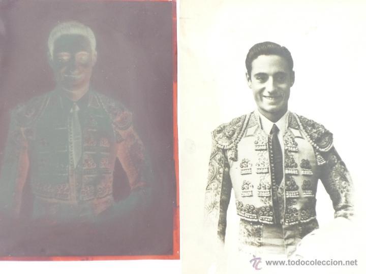 FIGURA DEL TOREO MIGUEL BAEZ LITRI. POSTAL CON NEGATIVO 10X15. GASTOS DE ENVIO 2€. (Fotografía Antigua - Tarjeta Postal)
