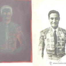 Fotografía antigua: FIGURA DEL TOREO MIGUEL BAEZ LITRI. POSTAL CON NEGATIVO 10X15. GASTOS DE ENVIO 2€.. Lote 48969126