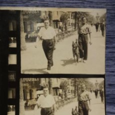Fotografía antigua: BADALONA. CURIOSA FOTOGRAFÍA EN LA RAMBLA AÑOS 20. MONUMENTO ROCA I PI AL FONDO. ( RECORTADA ). Lote 49049631