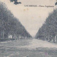 Fotografía antigua: POSTAL: LAS ARENAS. PASEO ZUGAZARTE . GETXO (VIZCAYA ). Lote 49504435