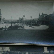 Fotografía antigua: SEVILLA - 2 FOTOS ANTIGUAS - PLAZA ESPAÑA - 1920 'S - MUY RARAS - BALEARES. Lote 49512994