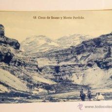 Fotografía antigua: TARJETA POSTAL ORDESA CIRCO DE SOASO Y MONTE PERDIDO . Lote 49529678