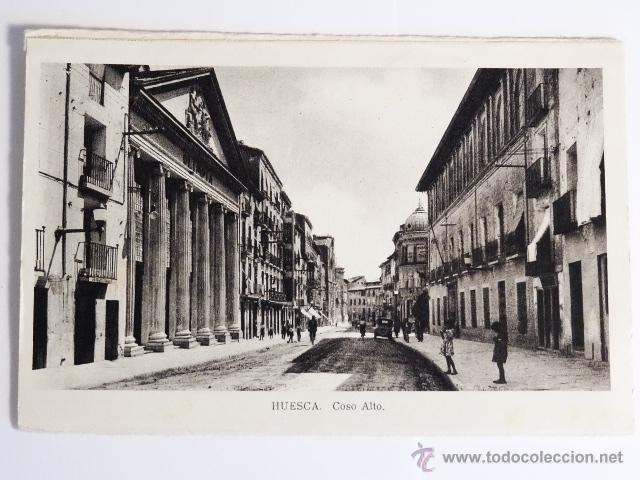 TARJETA POSTAL HUESCA COSO ALTO EDICIONES ARRIBAS ZARAGOZA (Fotografía Antigua - Tarjeta Postal)