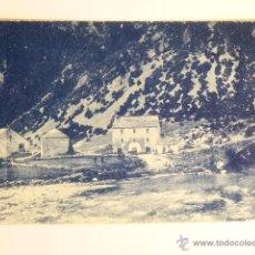 Fotografía antigua: TARJETA POSTAL BUJARUELO FONDA PRADAS M. VILLACAMPA BROTO EDITOR SILVERIO PASCUAL. Lote 49529926