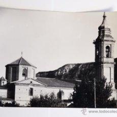 Fotografía antigua: TARJETA POSTAL ALCOLEA DE CINCA HUESCA IGLESIA DE SAN JUAN BAUTISTA. Lote 49530434