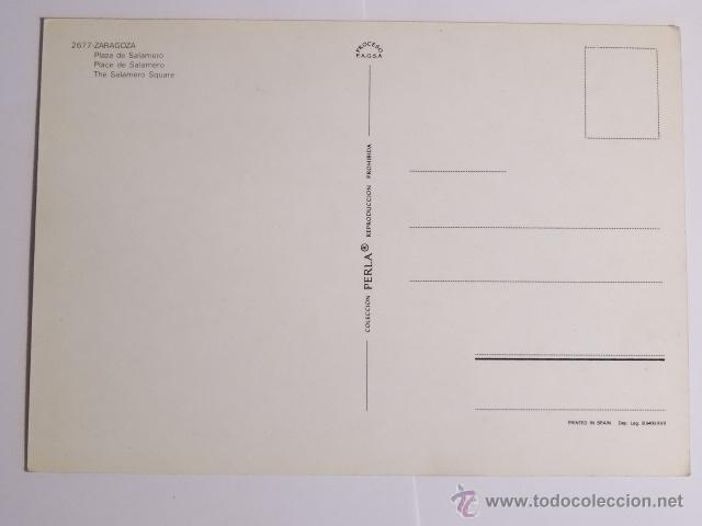 Fotografía antigua: tarjeta postal zaragoza plaza de salamero - Foto 2 - 49530813