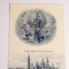 Fotografía antigua: TARJETA POSTAL RECUERDO DE ZARAGOZA. Lote 49531062