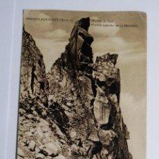 Fotografía antigua: TARJETA POSTAL PIRENEU ARAGONES PORTILLO DE DALT PORTILLO SUPERIOR DE LA MALADETA. Lote 49531113