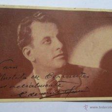 Fotografía antigua: EDUARDO DEPAULI CX 32 RADIO AGUILA FOTO DEDICADA. Lote 49534733