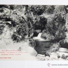 Fotografía antigua: TARJETA POSTAL ALTOS PIRINEOS GEDRE LA GROTTE DU GAVE DE HEAS. Lote 49548319