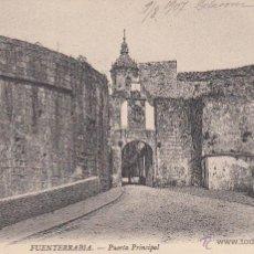 Fotografía antigua: POSTAL: FUENTERRABIA. PUERTA PRINCIAL 1907. Lote 49601876