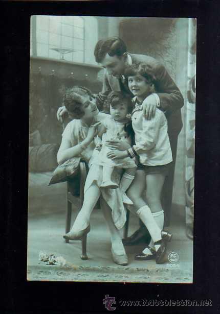 POSTAL FAMILIAR. CIRCULADA (Fotografía Antigua - Tarjeta Postal)