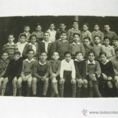 Fotografía antigua: FOTOGRAFIA POSTAL DE UN GRUPO DE ALUMNOS DE LOS AÑOS 30. VALLADOLID. Lote 50038695