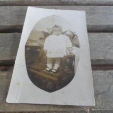 Fotografía antigua: FOTO FOTOGRAFIA TARJETA POSTAL NIÑO. Lote 50114161