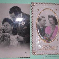 Fotografía antigua: 2 ANTIGUAS FOTOS,FOTO, FOTOGRAFÍA PAREJAS AÑOS 40. Lote 50343537