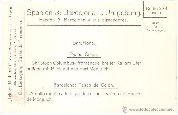 Fotografía antigua: Barcelona Paseo de Colón - Foto 2 - 10051021