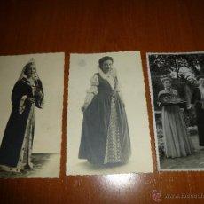 Fotografía antigua: 3 FOTOGRAFIAS DE ANTIGUAS ALUMNAS DE COLEGIO FEMENINO EN TORRELAVEGA, SANTANDER, AÑOS 40 O 50. Lote 51055300