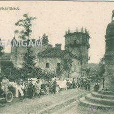 Fotografía antigua: PAMANES - PALACIO ELSEDO COCHES DE LA EPOCA (SANTANDER, CANTABRIA) POSTAL. Lote 51062575