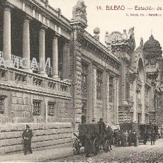 Fotografía antigua: BILBAO BILBO ESTACIÓN DE SANTANDER AÑOS 20 POSTAL (REF.A67). Lote 51063262