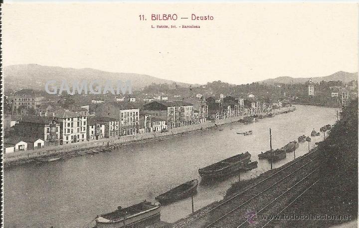 BILBAO BILBO DEUSTO AÑOS 20 POSTAL (REF.A70) (Fotografía Antigua - Tarjeta Postal)