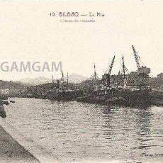 Fotografía antigua: BILBAO BILBO LA RÍA AÑOS 20 POSTAL (REF.A71). Lote 51063319