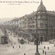 Fotografía antigua: BILBAO BILBO HURTADO AMEZAGA Y BANCO DE VIZCAYA AÑOS 20 POSTAL (REF.A74). Lote 51063349