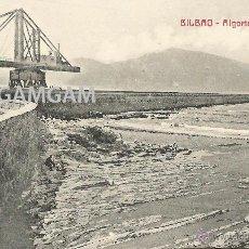 Fotografía antigua: ROMPEOLAS ALGORTA AÑO 1911 - (REF A86) POSTAL. Lote 51069971
