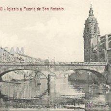 Fotografía antigua: BILBAO BILBO IGLESIA Y PUENTE DE SAN ANTONIO AÑO 1911 - (REF A94) POSTAL. Lote 51070030